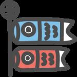 [端午の節句・こどもの日]鯉のぼりのかわいい手書き風イラストアイコン