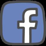 facebook(フェイスブック)ロゴのかわいい手書き風イラストアイコン