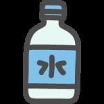 ペットボトルに入った水(ミネラルウォーター)のかわいい手書き風イラストアイコン