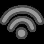 Wi-Fi(ワイファイマーク)のかわいい手書き風イラストアイコン<黒色>
