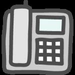 プッシュホン式電話のかわいいイラストアイコン