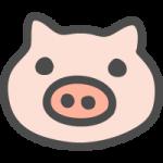 豚(ブタ)のイラストアイコン