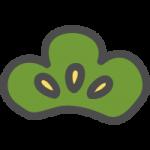 松(マツ)の葉のかわいい手書き風イラストアイコン