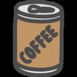 缶コーヒー(珈琲)のかわいい手書き風イラストアイコン