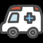 救急車のかわいい手書き風イラストアイコン
