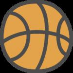 バスケットボールのかわいい手書き風イラストアイコン