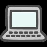 ノートパソコン(PCマーク)のかわいい手書き風イラストアイコン