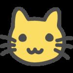 猫(ネコ)のかわいい手書き風イラストアイコン