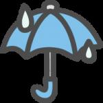 傘(雨マーク)のかわいい手書き風イラストアイコン
