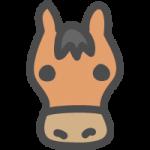 馬(ウマ)のかわいい手書き風イラストアイコン