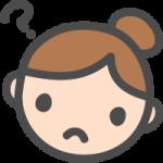 [女性の顔]はてな・疑問・質問の表情のかわいい手書き風イラストアイコン