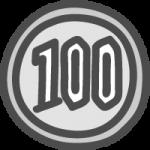 [小銭]百円玉(100円硬貨)のかわいい手書き風イラストアイコン