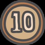 [小銭]十円玉(10円硬貨)のかわいい手書き風イラストアイコン