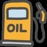ガソリンスタンド(給油所)の手書き風イラストアイコン