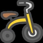 三輪車のかわいい手書き風イラストアイコン