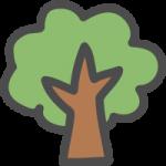木のかわいい手書き風イラストアイコン