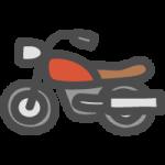 オートバイ(単車・二輪車)の手書き風イラストアイコン