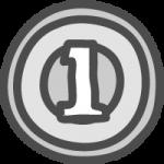 [小銭]一円玉(1円硬貨)のかわいい手書き風イラストアイコン