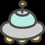 UFO(ユーフォー)のかわいい手書き風イラストアイコン