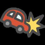 車の衝突事故の手書き風イラストアイコン