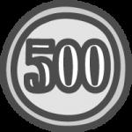[小銭]五百円玉(500円硬貨)のかわいい手書き風イラストアイコン