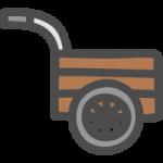 リヤカーの手書き風イラストアイコン