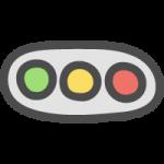 車両用信号機の手書き風イラストアイコン