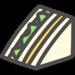 サンドイッチの可愛いイラストアイコン