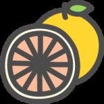 グレープフルーツの可愛いアイコンイラスト