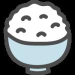 白ご飯の可愛いイラストアイコン