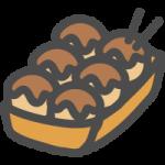 蛸焼(たこ焼き)の可愛いイラストアイコン