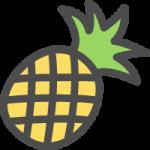 パイナップル(パイン)の可愛いアイコンイラスト