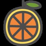 オレンジの可愛いアイコンイラスト