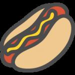 ホットドッグの可愛いイラストアイコン