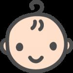かわいい赤ちゃんのイラストアイコン<男の子>