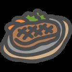 ビーフステーキの可愛いイラストアイコン