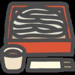 蕎麦(ざるそば)の可愛いイラストアイコン