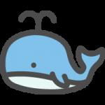 鯨(くじら)のイラストアイコン