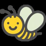 蜜蜂(ハチ・ミツバチ)のかわいいアイコンイラスト