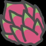 ドラゴンフルーツの可愛いアイコンイラスト
