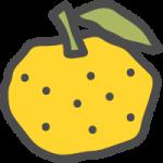 柚子(ゆず)の可愛いアイコンイラスト