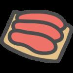 鱈子(たらこ)の可愛いイラストアイコン