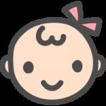 かわいい赤ちゃんのイラストアイコン<女の子>