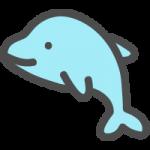 イルカのかわいいアイコンイラスト