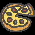 ピザ(ピッツァ)の可愛いイラストアイコン