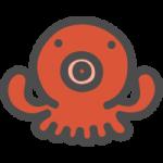 蛸(タコ)のかわいいアイコンイラスト
