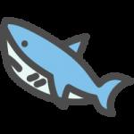 鮫(サメ)のかわいいアイコンイラスト