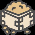 [節分]枡に入った福豆のイラストアイコン