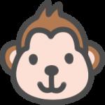 かわいい猿(さる)のアイコンイラスト素材