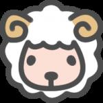 かわいい羊(ひつじ)のアイコンイラスト素材